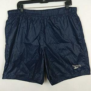 Vintage Reebok Lined Swim Trunks Size Medium